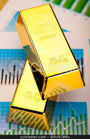Financial indicators,Chart,Gold bar stock photo, Financial indicators,Chart,Gold bar by Sebastian Duda