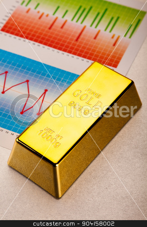 Coins and gold bars, ambient financial concept stock photo, Coins and gold bars, ambient financial concept by Sebastian Duda