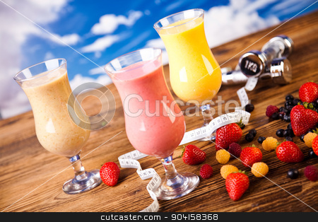 Protein shakes, sport and fitness stock photo, Protein shakes, sport and fitness by Sebastian Duda