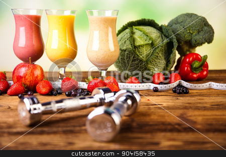 Milk shakes, sport and fitness stock photo, Milk shakes, sport and fitness by Sebastian Duda