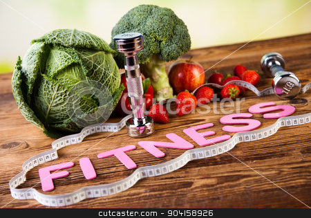 Vitamin and Fitness diet, dumbbell stock photo, Vitamin and Fitness diet, dumbbell by Sebastian Duda