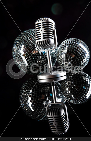 Retro microphone, music saturated concept stock photo, Retro microphone, music saturated concept by Sebastian Duda