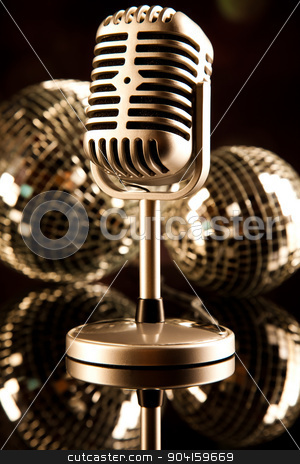 Music background, microphone, music saturated concept stock photo, Music background, microphone, music saturated concept by Sebastian Duda