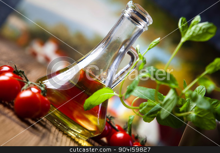Olive oil and olives, Mediterranean rural theme stock photo, Olive oil and olives, Mediterranean rural theme by Sebastian Duda