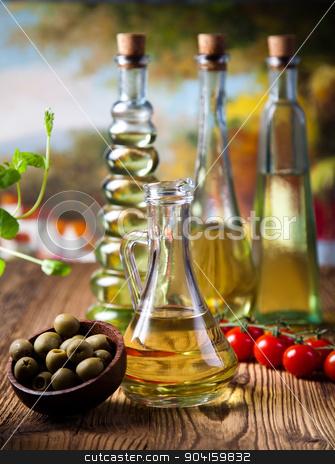 Olive oil and olives, Mediterranean rural theme stock photo, Olive oil and olives, Mediterranean rural theme by Sebastian Duda