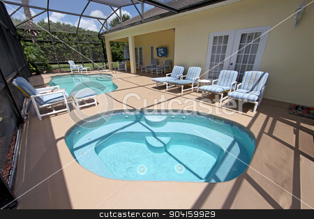 Spa and Swimming Pool stock photo, A large spa and a swimming pool by Lucy Clark