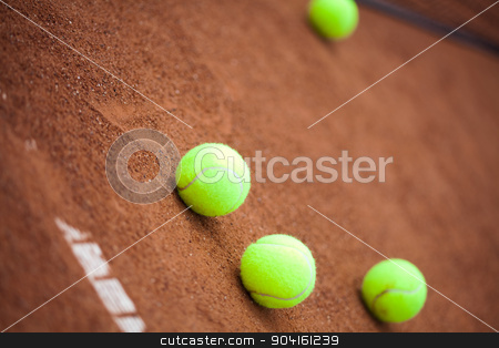 Sport, Tennis racket and balls stock photo, Sport, Tennis racket and balls by Sebastian Duda
