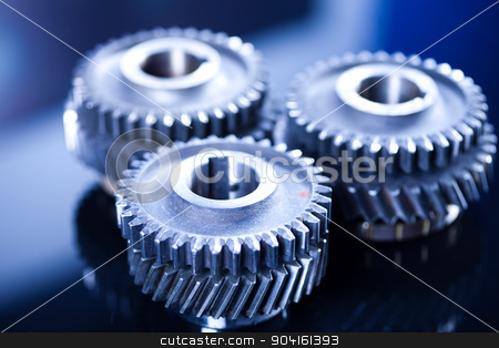 Gears meshing together, technic concept stock photo, Gears meshing together, technic concept by Sebastian Duda
