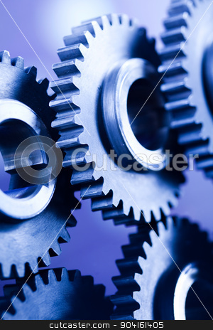 Gears, industrial mechanism, technic concept stock photo, Gears, industrial mechanism, technic concept by Sebastian Duda