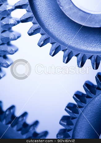 Metal Gears Background, technic concept stock photo, Metal Gears Background, technic concept by Sebastian Duda