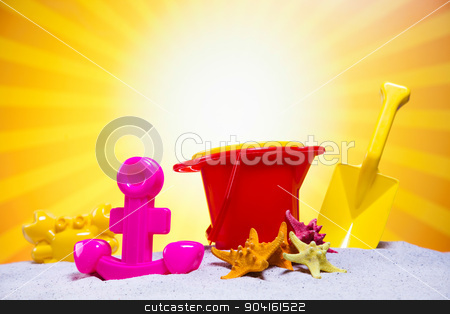 Summer Beach Background, vivid colorful atmosphere stock photo, Summer Beach Background, vivid colorful atmosphere by Sebastian Duda