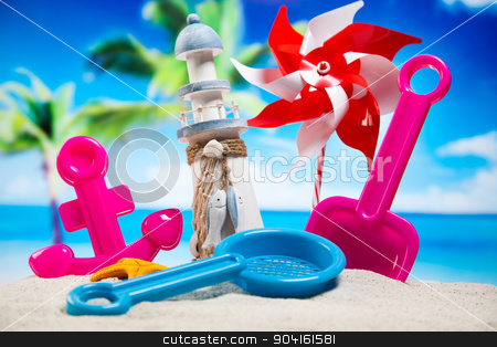 Beach background, vivid colorful atmosphere stock photo, Beach background, vivid colorful atmosphere by Sebastian Duda