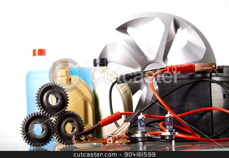 Car Accessories on vivid moto concept stock photo, Car Accessories on vivid moto concept by Sebastian Duda