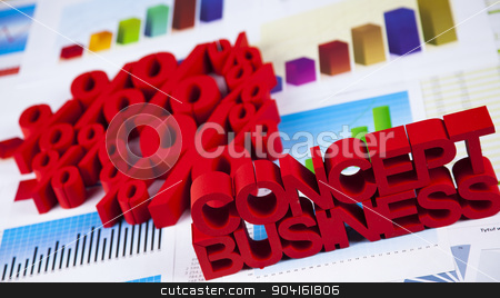 Percentage, Concept of discount colorful tone  stock photo, Percentage, Concept of discount colorful tone by Sebastian Duda