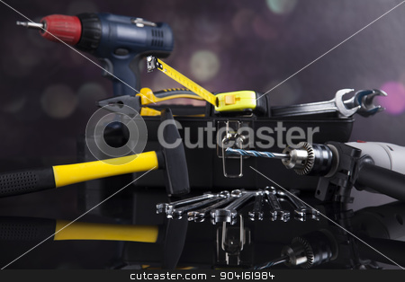 Construction tools, house renovation concept  stock photo, Construction tools, house renovation concept by Sebastian Duda