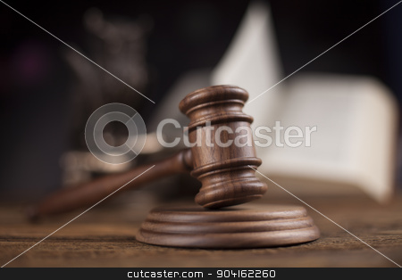 Law theme, mallet of judge, wooden gavel  stock photo, Law theme, mallet of judge, wooden gavel by Sebastian Duda