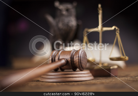 Law theme, mallet of judge, wooden gavel  stock photo, Law theme, mallet of judge, wooden gavel by Sebastian Duda