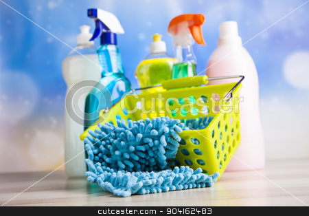 Washing, cleaning stuff, colorful concept stock photo, Washing, cleaning stuff, colorful concept by Sebastian Duda