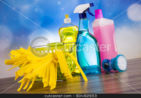 Cleaning Equipment, home work colorful theme stock photo, Cleaning Equipment, home work colorful theme by Sebastian Duda