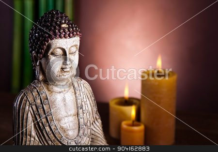 Zen buddha statue, vivid colors, natural tone stock photo, Zen buddha statue, vivid colors, natural tone by Sebastian Duda