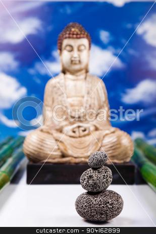 Zen buddha statue, vivid colors, natural tone stock photo, Zen buddha statue, vivid colors, natural tone by Sebastian Duda