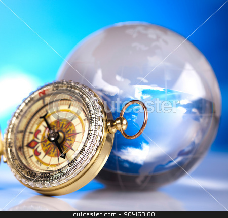 Compass, modern theme of journey stock photo, Compass, modern theme of journey by Sebastian Duda