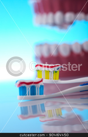 Anatomy of the tooth, bright colorful tone concept stock photo, Anatomy of the tooth, bright colorful tone concept by Sebastian Duda