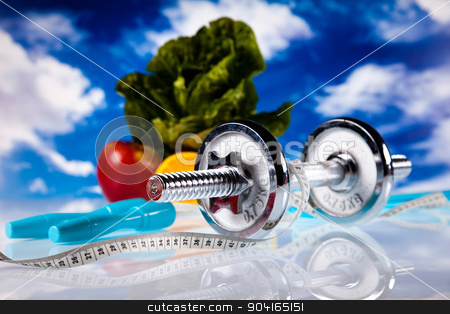Weight loss, fitness, bright colorful tone concept stock photo, Weight loss, fitness, bright colorful tone concept by Sebastian Duda