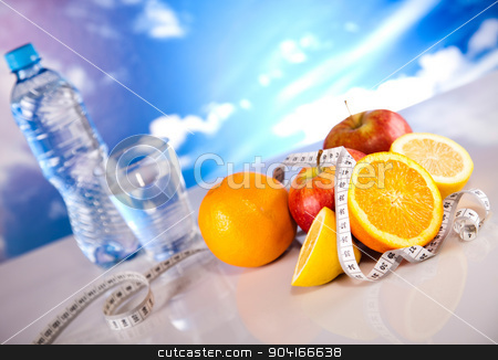 Fruit Fitness, sunshine, bright colorful tone concept stock photo, Fruit Fitness, sunshine, bright colorful tone concept by Sebastian Duda