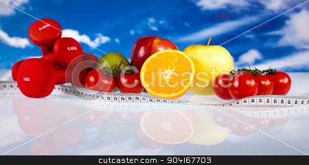 Fitness diet, vitamins, bright colorful tone concept stock photo, Fitness diet, vitamins, bright colorful tone concept by Sebastian Duda