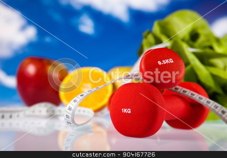 Healthy lifestyle concept, vitamins, bright colorful tone stock photo, Healthy lifestyle concept, vitamins, bright colorful tone by Sebastian Duda