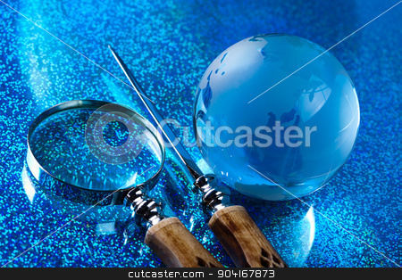 Glass globe, saturated worldwide concept stock photo, Glass globe, saturated worldwide concept by Sebastian Duda