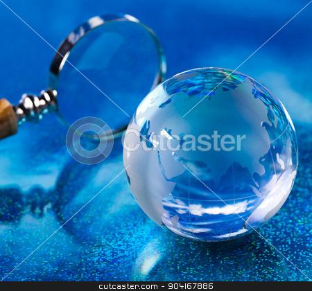 Modern concept of world, glass globe stock photo, Modern concept of world, glass globe by Sebastian Duda