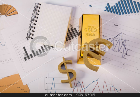 Monthly report, ambient financial concept stock photo, Monthly report, ambient financial concept by Sebastian Duda