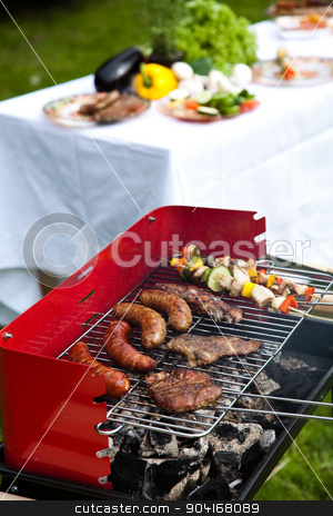 BBQ, Grilling time, bright colorful vivid theme stock photo, BBQ, Grilling time, bright colorful vivid theme by Sebastian Duda