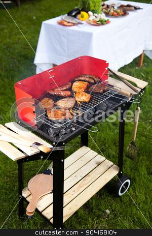 Hot grilling, bright colorful vivid theme stock photo, Hot grilling, bright colorful vivid theme by Sebastian Duda