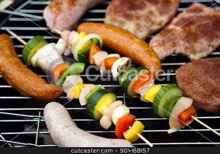Steak, Grilling at summer weekend, bright colorful vivid theme stock photo, Steak, Grilling at summer weekend, bright colorful vivid theme by Sebastian Duda
