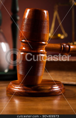 Judges wooden gavel, ambient light vivid theme stock photo, Judges wooden gavel, ambient light vivid theme by Sebastian Duda
