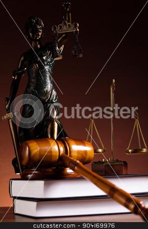 Justice statue, Law, ambient light vivid theme stock photo, Justice statue, Law, ambient light vivid theme by Sebastian Duda