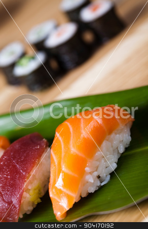 Sushi, oriental cuisine colorful theme stock photo, Sushi, oriental cuisine colorful theme by Sebastian Duda