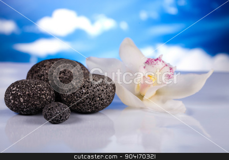 Balanced zen stones, magical ambient atmosphere theme stock photo, Balanced zen stones, magical ambient atmosphere theme by Sebastian Duda