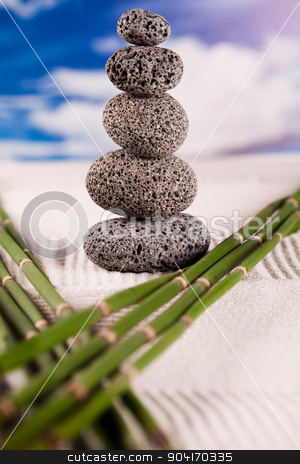 Zen and blue sky, magical ambient atmosphere theme stock photo, Zen and blue sky, magical ambient atmosphere theme by Sebastian Duda