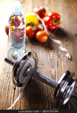 Vegetable and fruit fitness stock photo, Vegetable and fruit fitness, sunset by Sebastian Duda