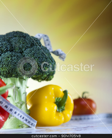 Supplement Diet stock photo, Fitness food, sunset background, bright colorful tone concept by Sebastian Duda