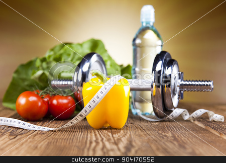 Supplement Diet stock photo, Weight loss, fitness, bright colorful tone concept by Sebastian Duda