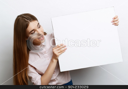 Beautiful girl with copy space