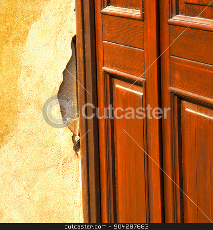 abstract  church door    in italy  lombardy  red