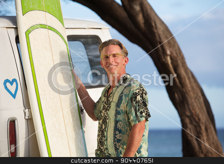 Cute and Confident Surfer stock photo, Cute and confident surfer with eyeglasses outdoors by Scott Griessel
