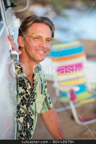 Single Man on Vacation stock photo, Handsome single adult Caucasian male outdoors on vacation by Scott Griessel