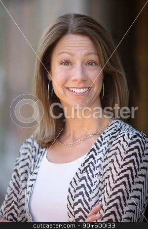 Hopeful Mature Woman stock photo, Beautiful single Caucasian woman outdoors with hopeful expression by Scott Griessel